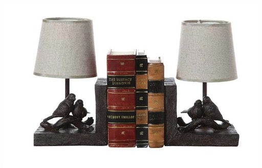 BIRD BOOKEND LAMP