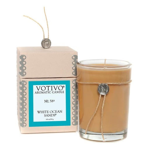 AROMATIC CANDLE WHITE OCEAN SANDS