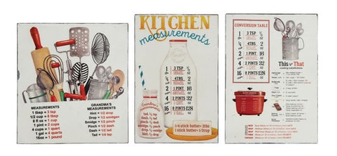 TIN MAGNET W/ KITCHEN MEASUREMENTS