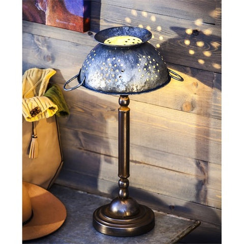 ANTIQUE COLANDER LAMP