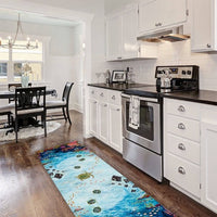MANTA RAY REEF  FLOORCLOTH