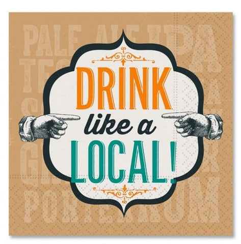 DRINK LIKE A LOCAL BEVERAGE NAPKIN