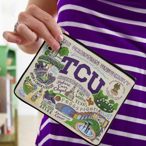 TEXAS CHRISTIAN UNIVERSITY POUCH BY CATSTUDIO