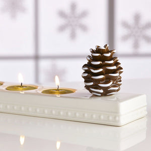 NORA FLEMING BROWN WHITE PRETTY PINECONE MINI A110