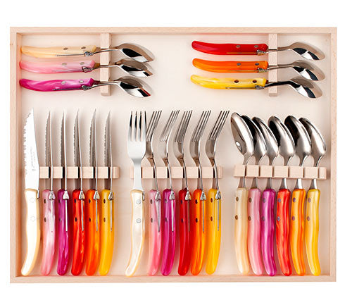 Laguiole 24 piece cutlery box set