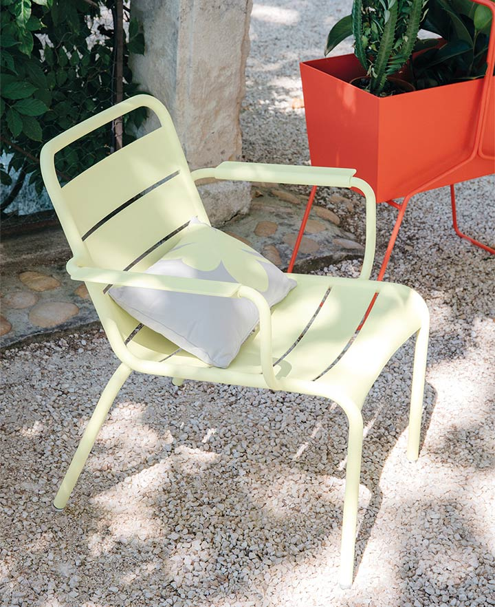 Fermob Luxemborg Lounge Chair in outdoor space