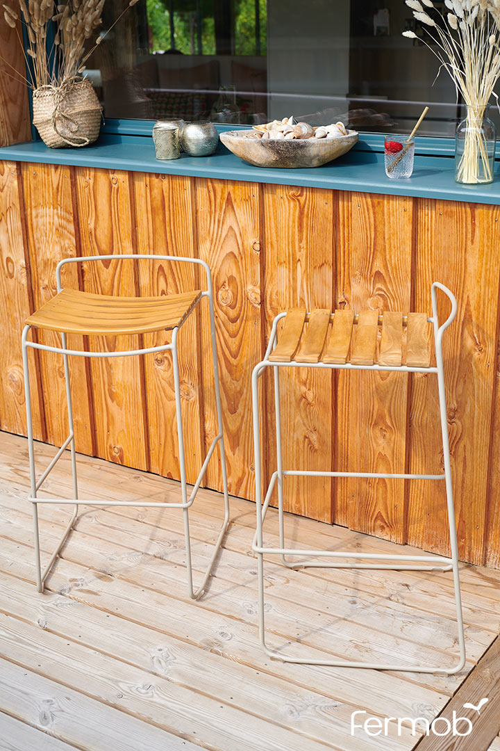 Fermob Surprising Teak Bar Stool