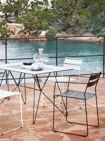 iSiMAR Portofino Armchairs on outdoor patio