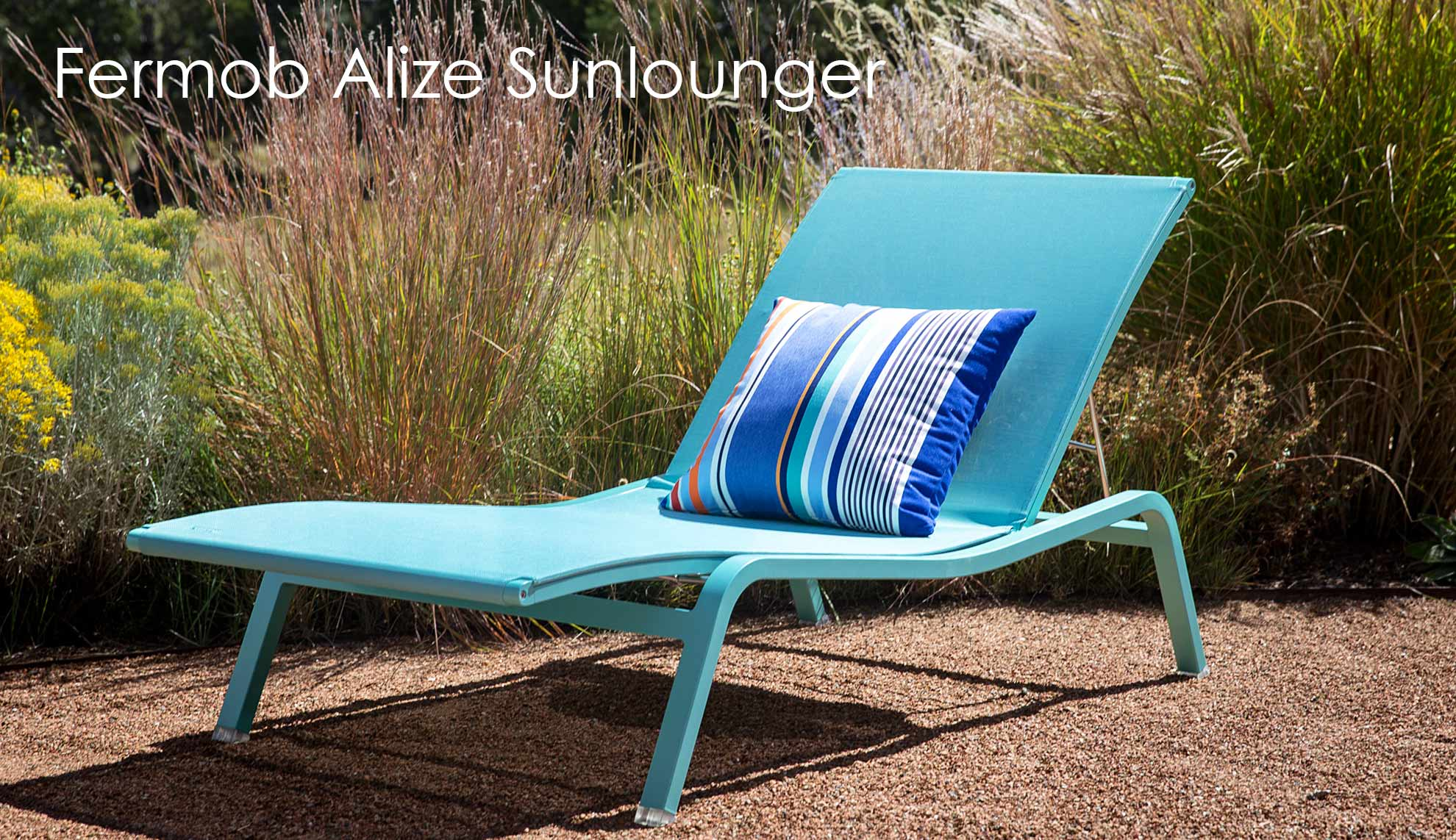 Fermob Alize Sunlounger pool chaise lounge