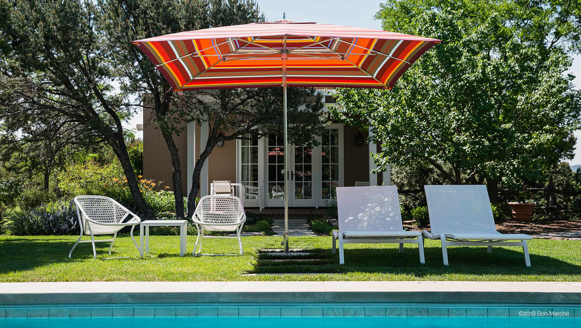 tucci large striped outdoor patio umbrella