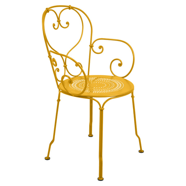 fermob yellow 1900 outdoor patio chair