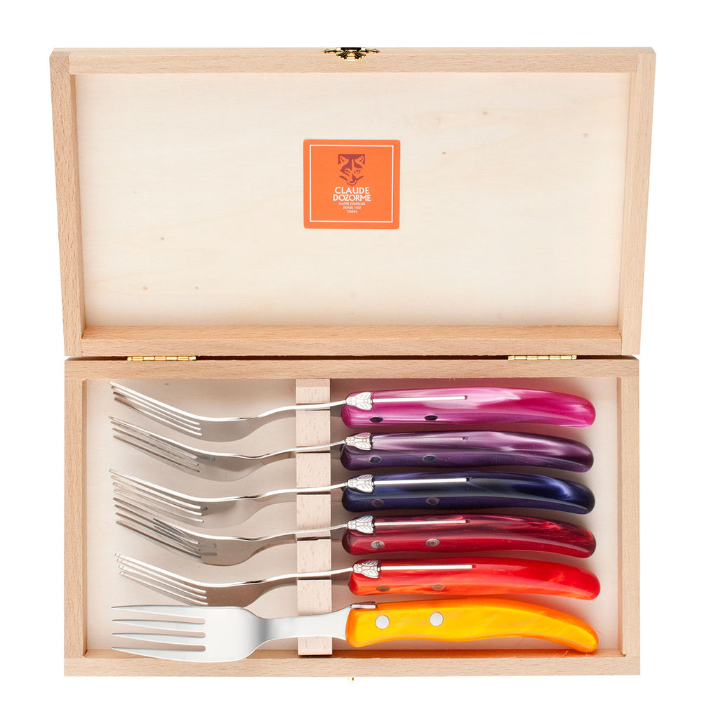 Laguiole Claude Dozorme Set of Six Forks - bonmarche