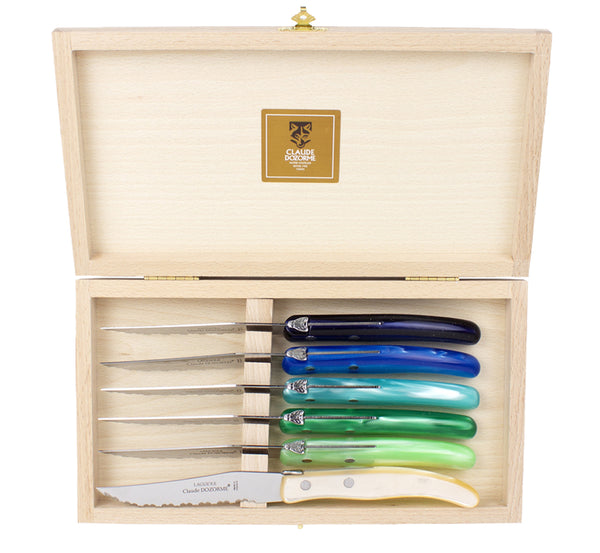 Laguiole Claude Dozorme Set of Six Steak Knives - bonmarche