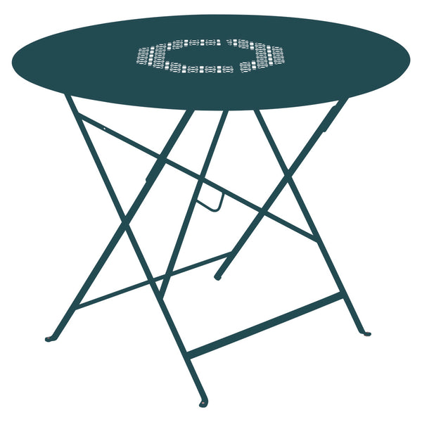 Fermob Lorette 38 inch Folding Round Dining Table - bonmarche
