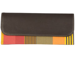 Leather Envelope Clutch - bonmarche