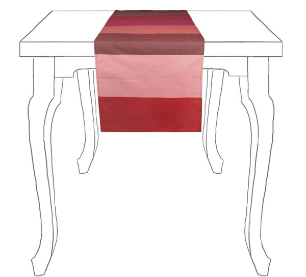 Striped Table Runner cranberry