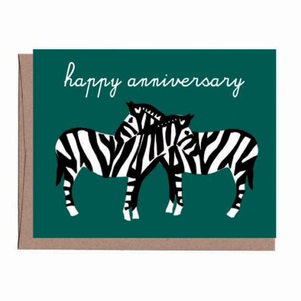 Necking Zebras Anniversary Card
