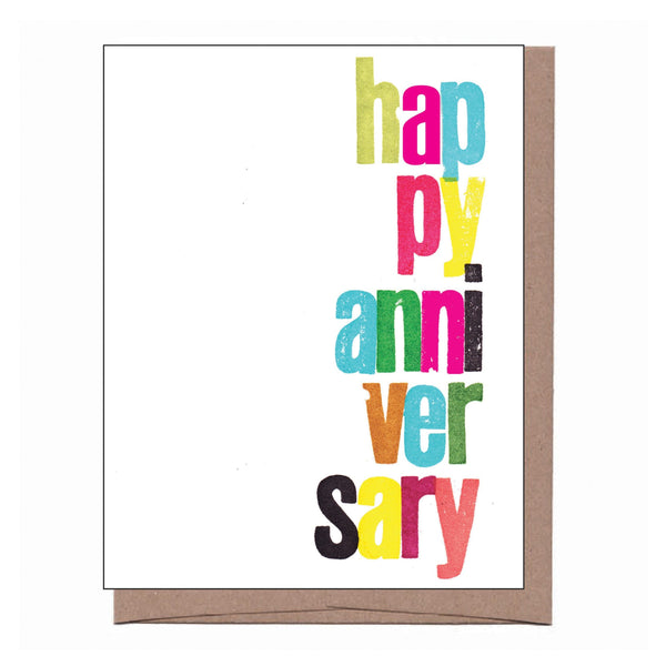 Technicolor Anniversary Card