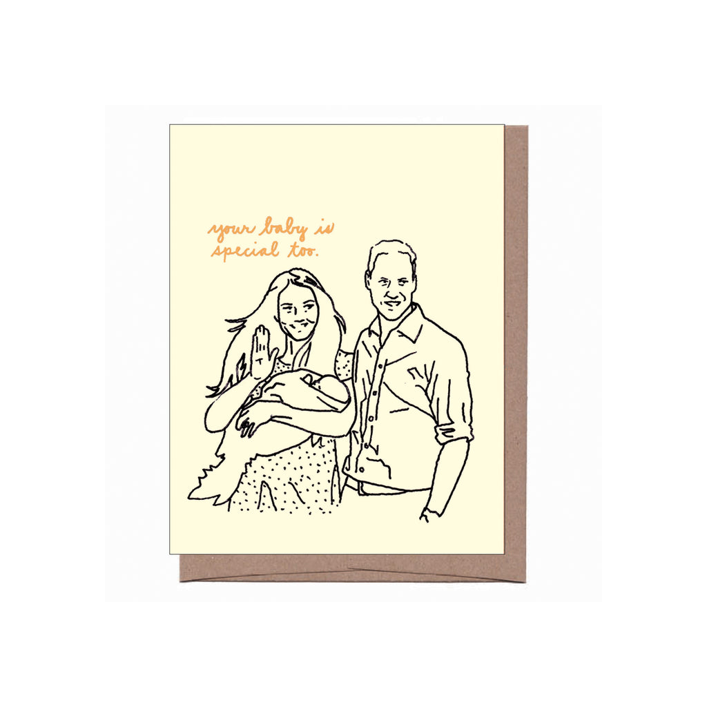 Will, Kate, & George New Baby Card