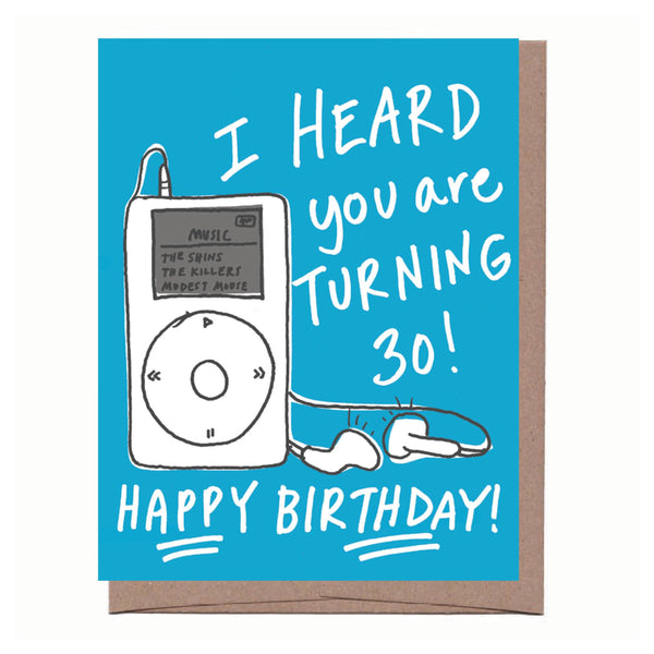 iPod 30th Birthday Card