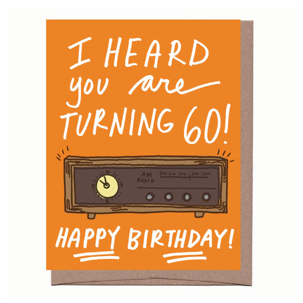 AM Radio 60th Birthday Card
