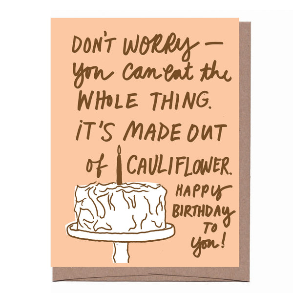 Cauliflower Birthday Cake Card