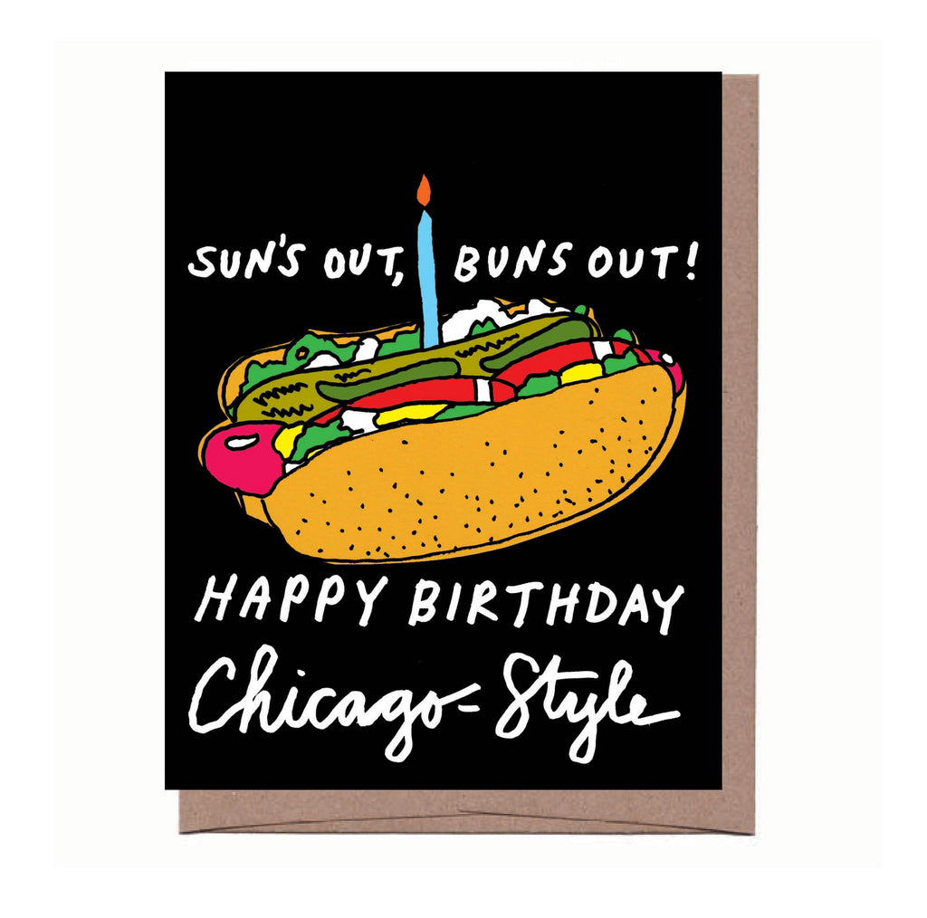 Buns Out Chicago Birthday Card