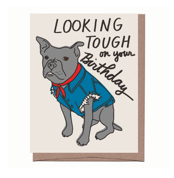 Dog Vest Birthday Card