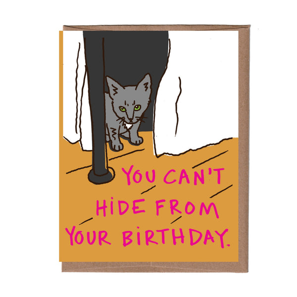 Can't Hide Birthday Card