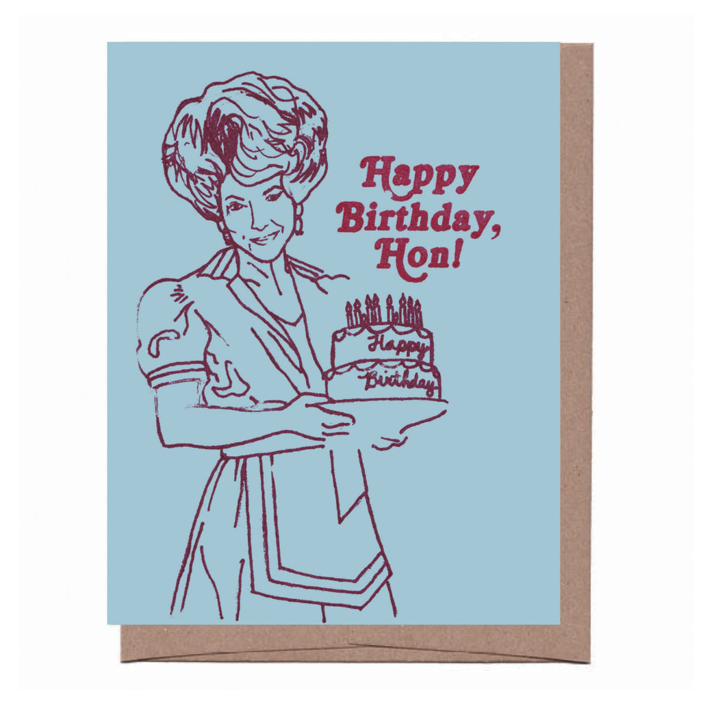 Big Hair Birthday Card