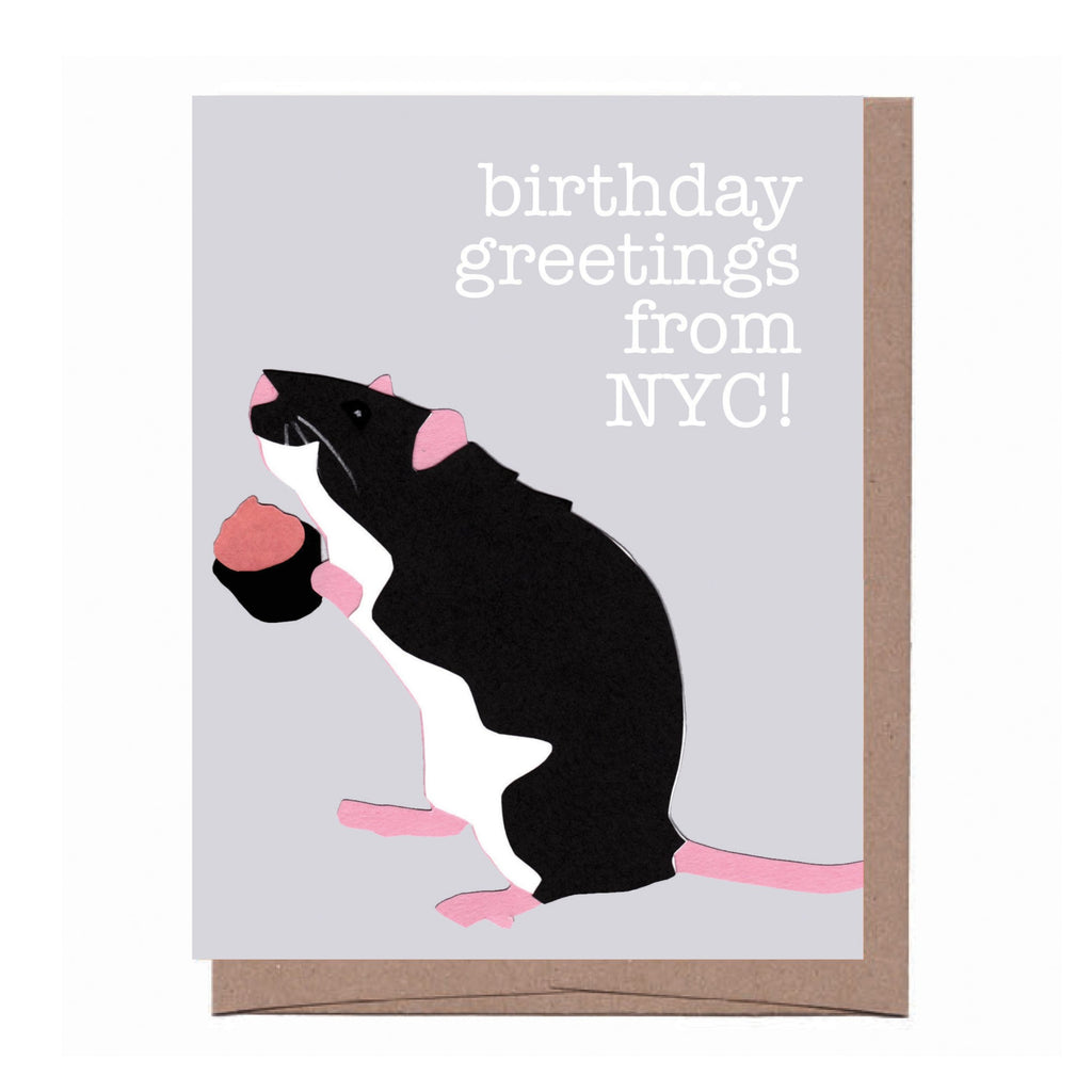 NYC Rat Birthday Card