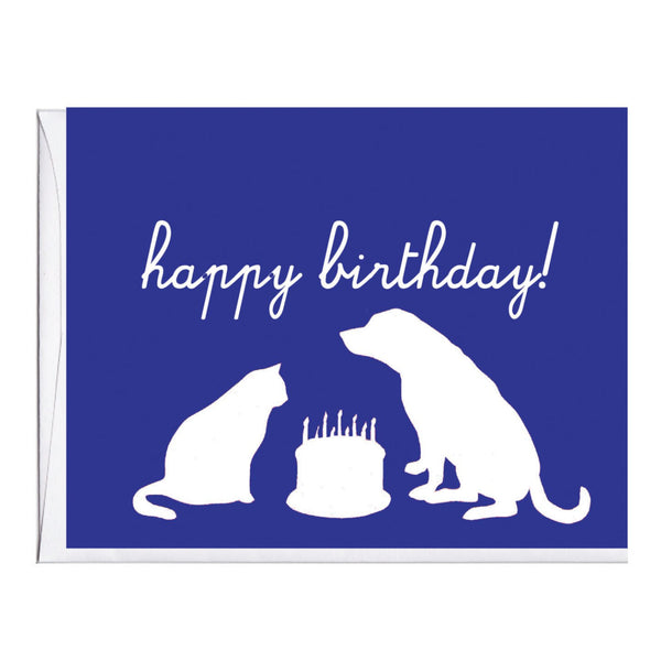 Animal Silhouettes Birthday Card