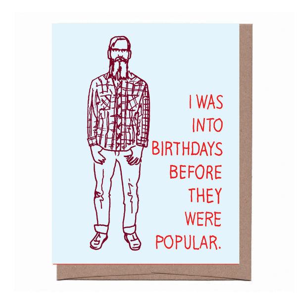 Before You Hipster Birthday Card
