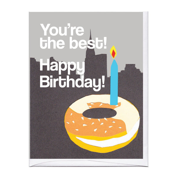 NYC Bagel Birthday Card