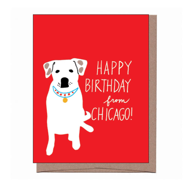 Chicago Collar Birthday Card