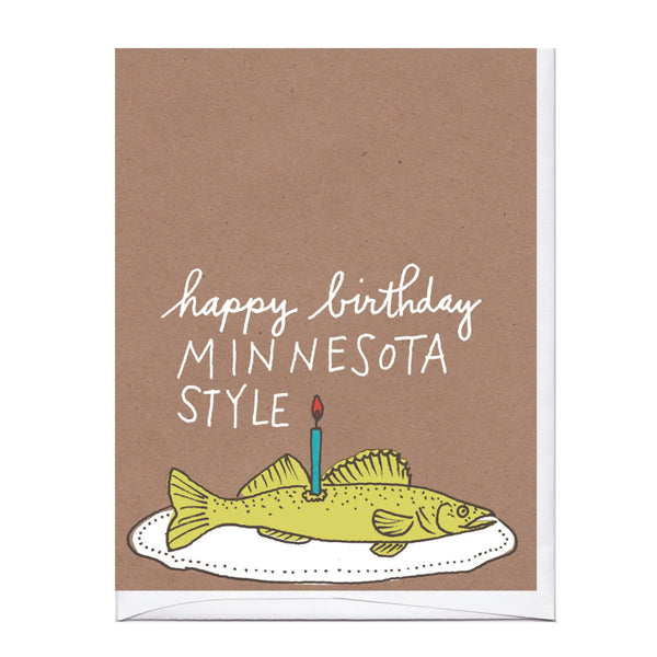 Minnesota Walleye Birthday Card