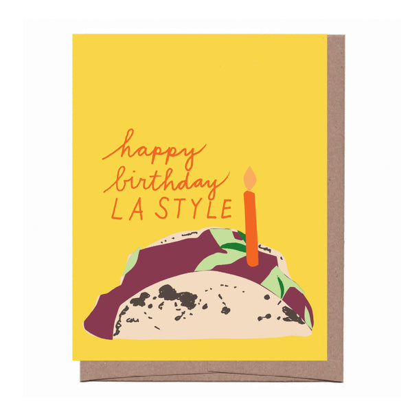 LA Taco Birthday Card