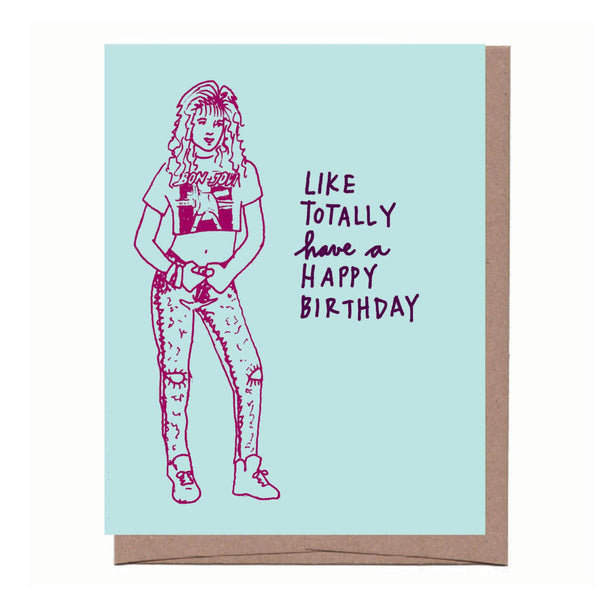 Totally 80s Birthday Card