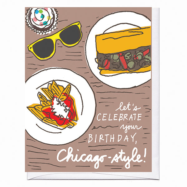 Chicago Beef Birthday Card