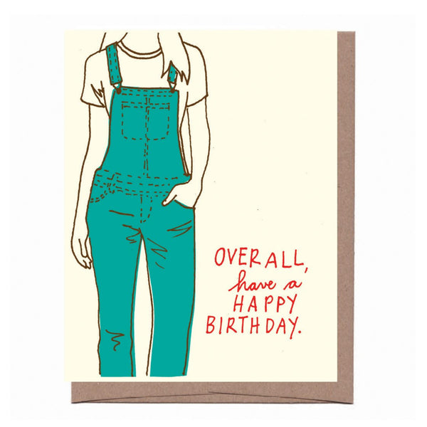 Overall Birthday Card