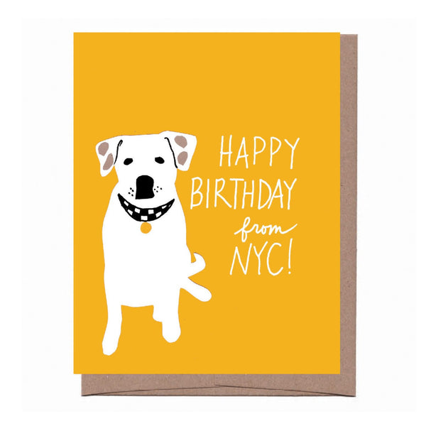 NYC Collar Birthday Card