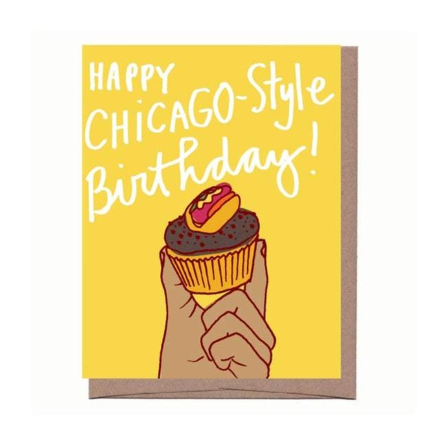 City Cupcake Birthday Card