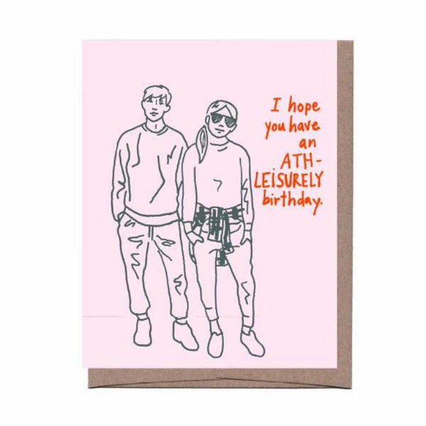 Athleisurely Birthday Card