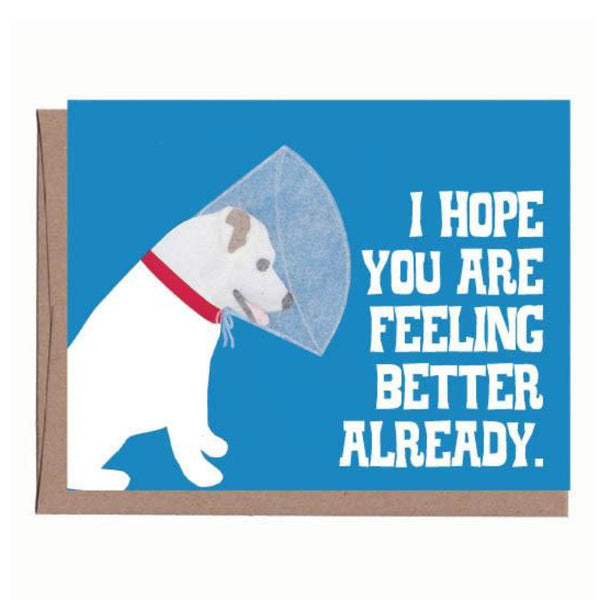 Dog with Cone Card