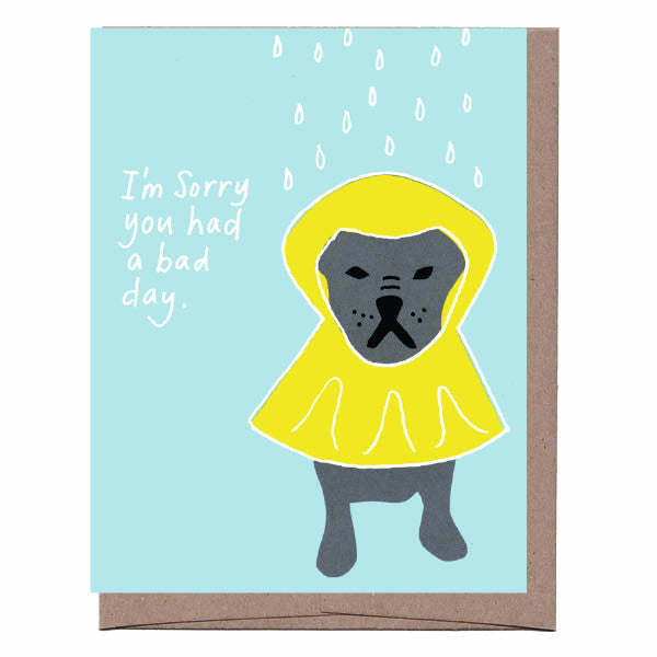 Dog Raincoat Card