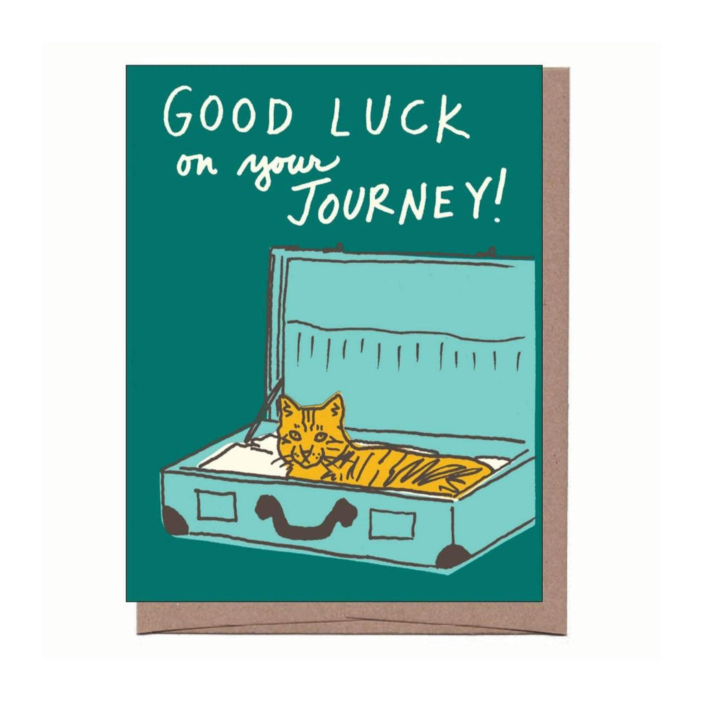 Cat in Suitcase Card