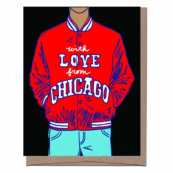 City Satin Jacket Card