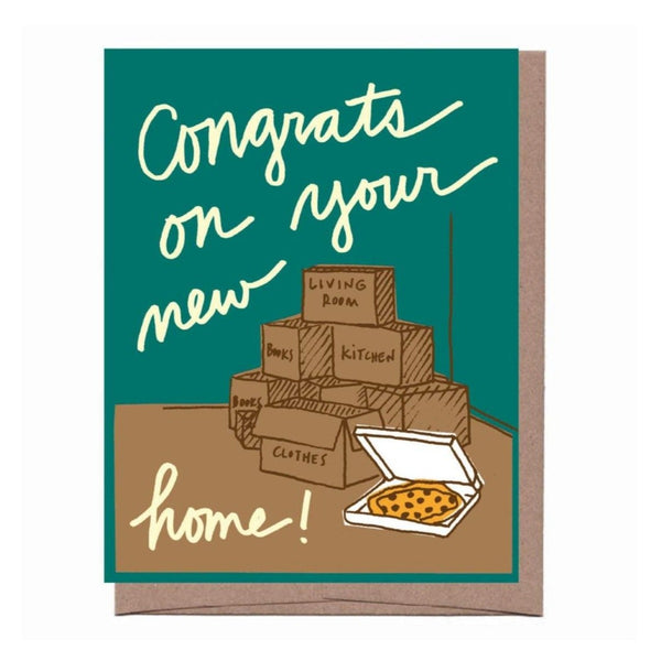 Boxes and Pizza Card