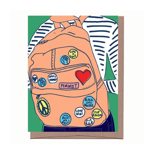 Button Backpack Card
