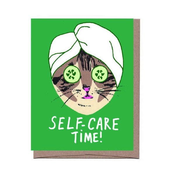 Self Care Cat Card